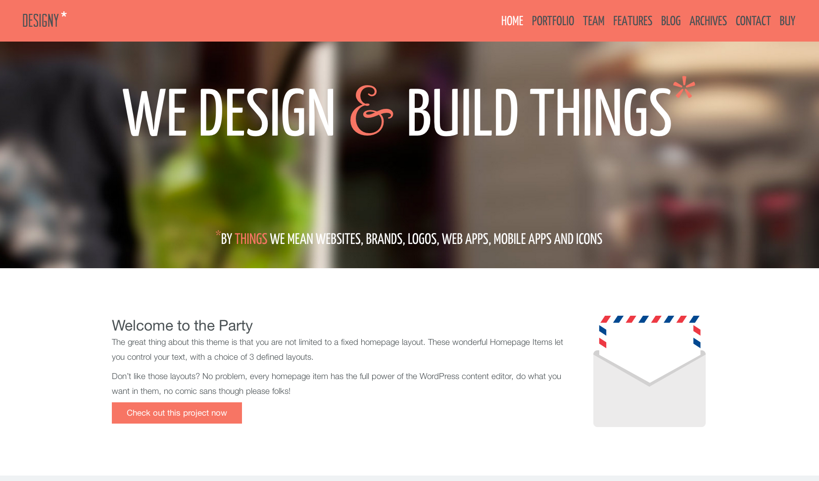 Designy flat WordPress theme