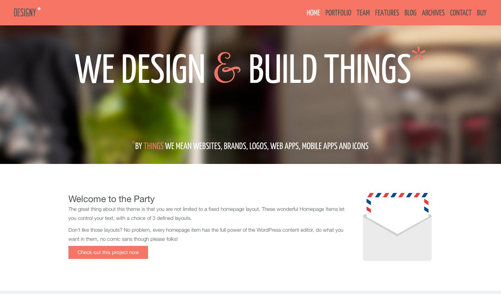 Designy flat WordPress theme