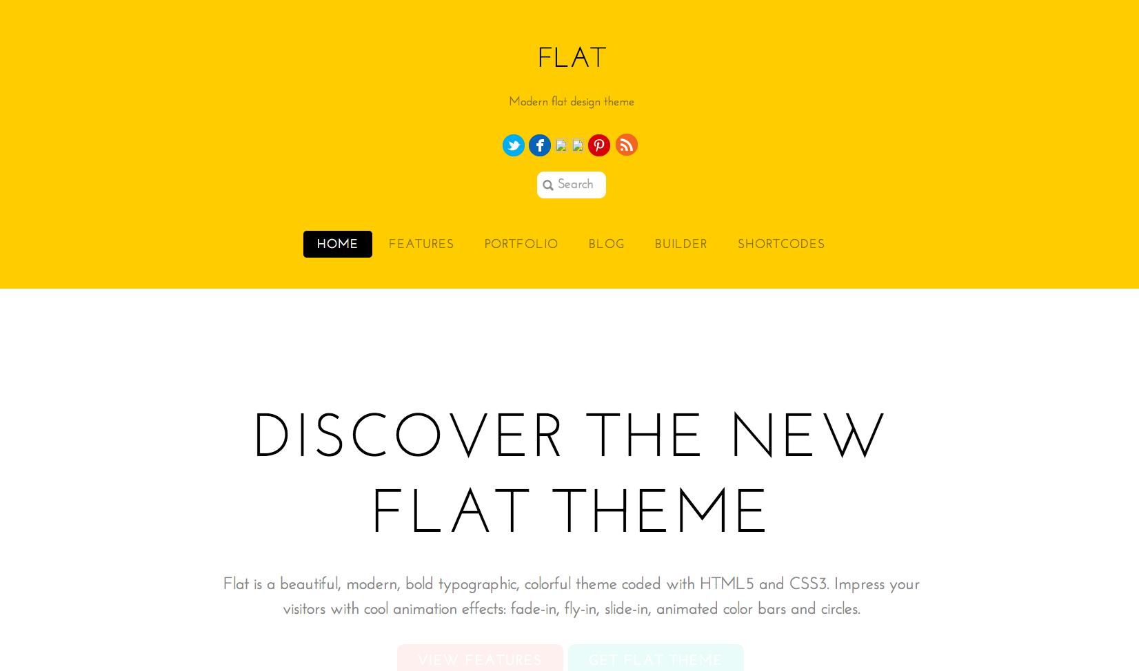 Flat WordPress theme