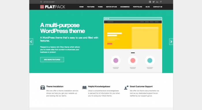 FlatPack flat WordPress theme