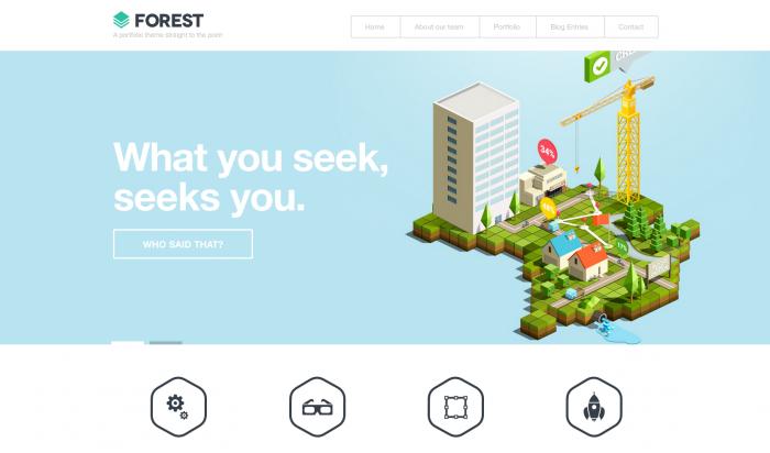Forest flat WordPress theme