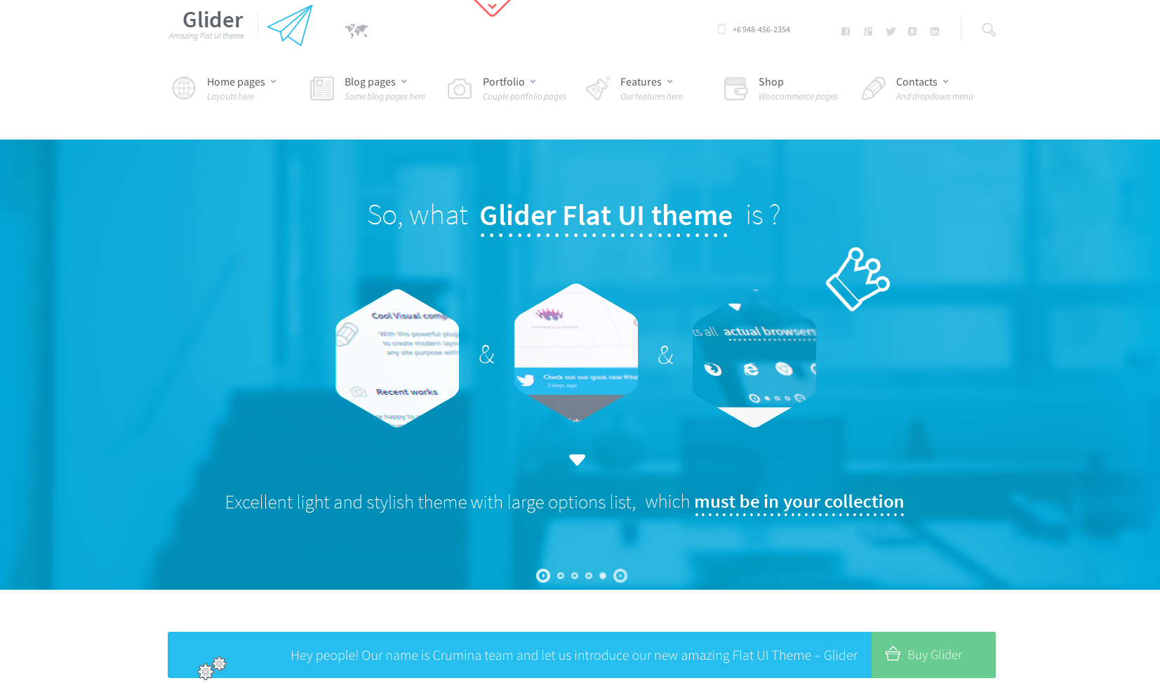 Glider flat WordPress theme