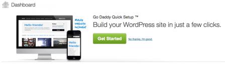 Go Daddy WordPress site builder