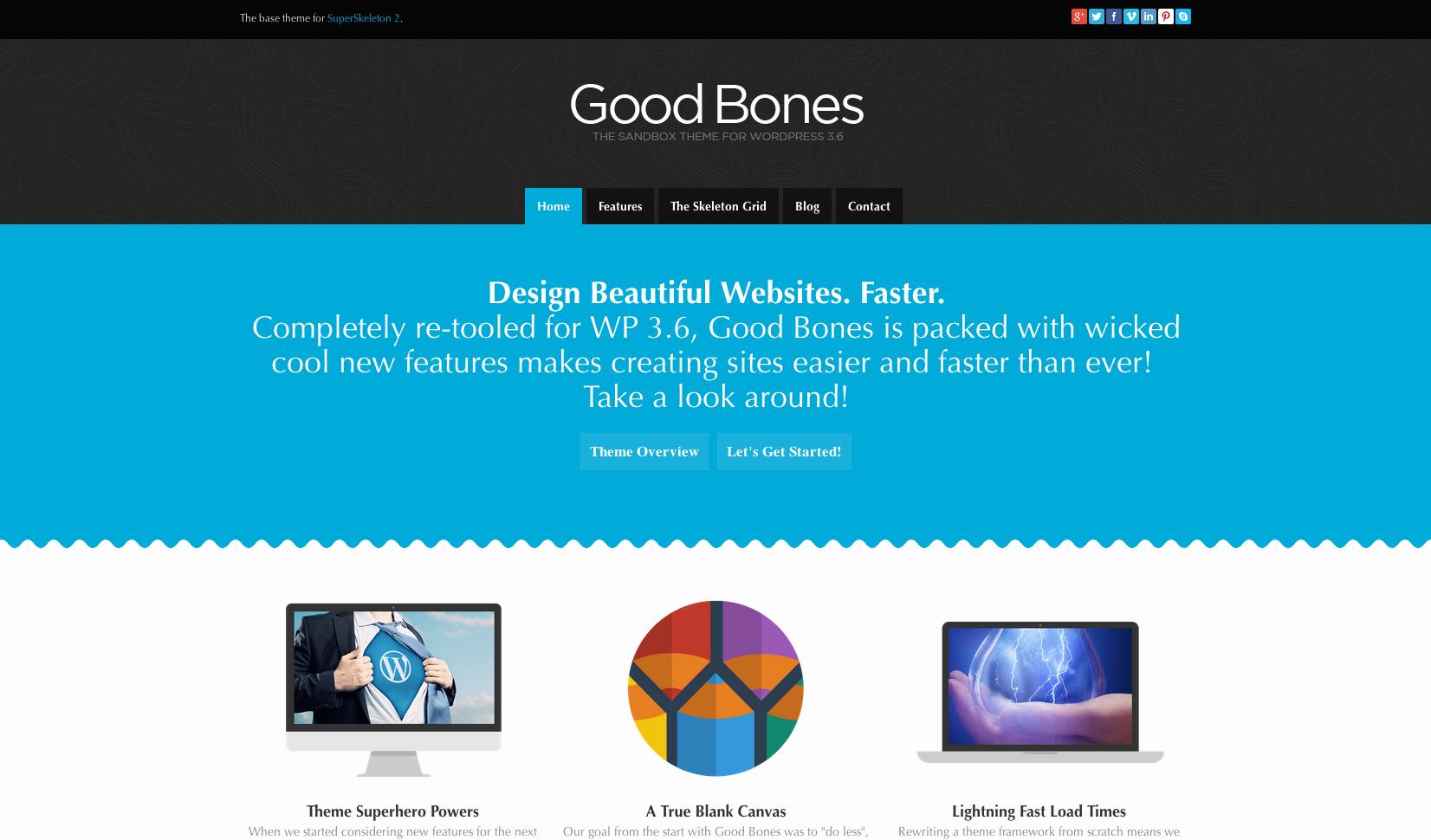 Good Bones flat WordPress theme