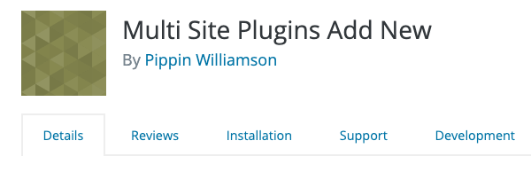 A look at the great plugin, multisite plugins add new