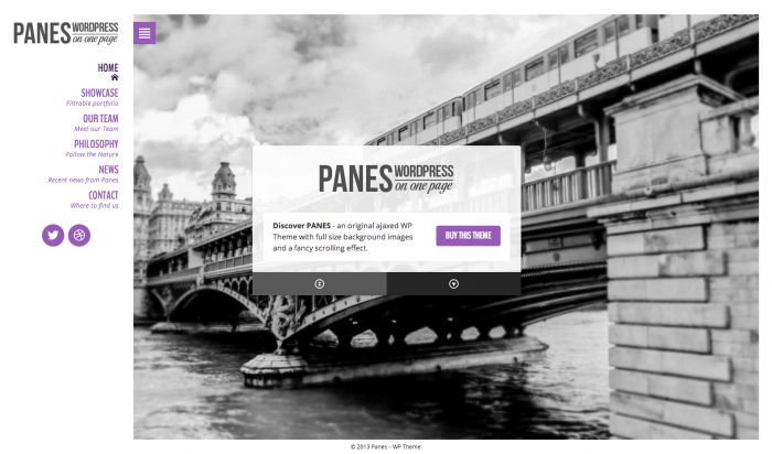Panes flat WordPress theme