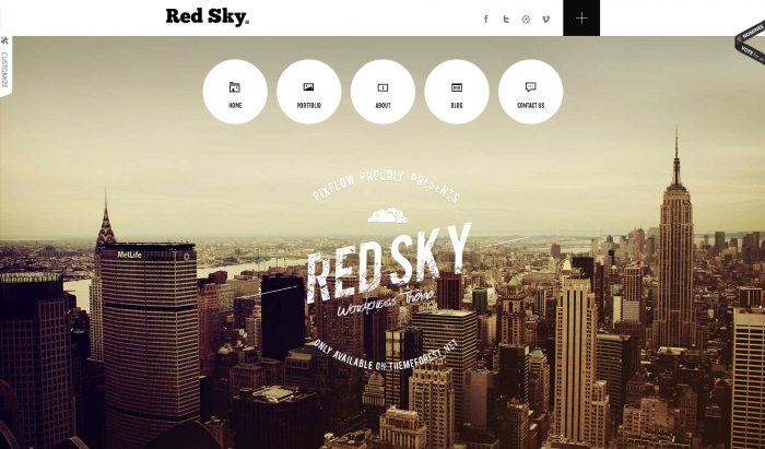Red Sky flat WordPress theme