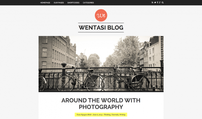 Wentasi flat WordPress theme