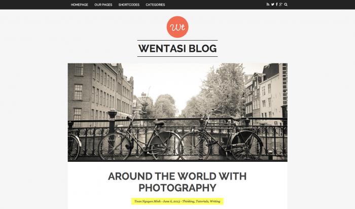 Wentasi flat WordPress theme