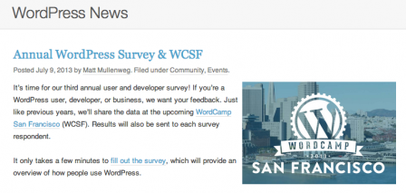 WordPress Annual Survey