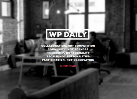 WP Daily has closed down