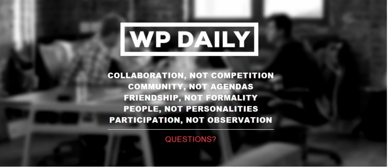 WP Daily announced on Wednesday that it was shutting up shop. It's kaput. No more.
