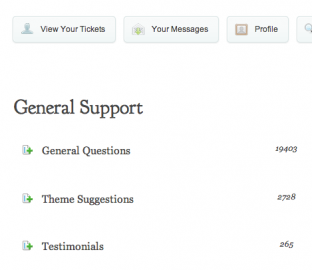 Elegant Themes support forums