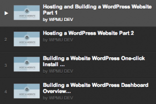How to host a website WPMU DEV playlist