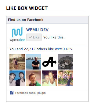WPMU DEV Facebook Like box