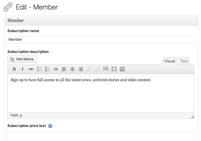 WPMU DEV Membership Edit Member