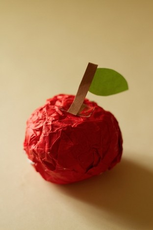 apple made out of paper