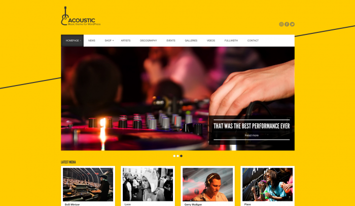 Acoustic colorful WordPress themes