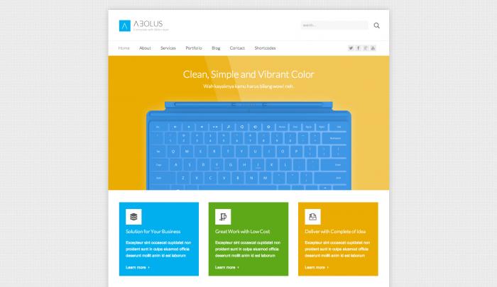Aeolus colorful WordPress theme