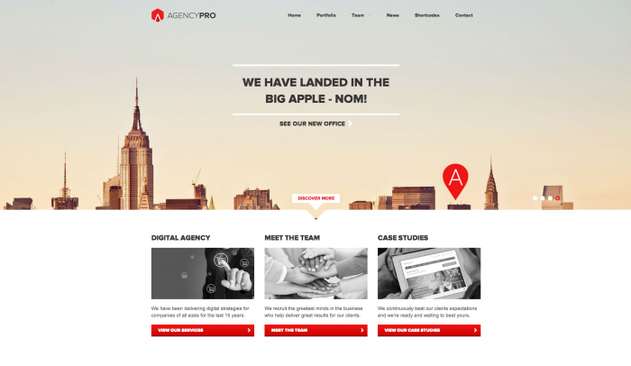 Agency Pro colorful WordPress theme