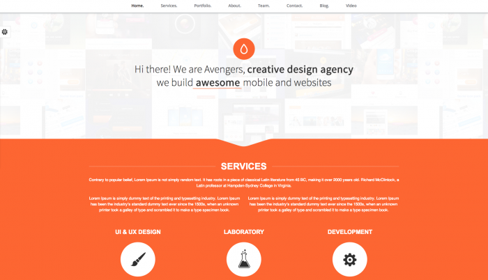 Avengers colorful WordPress theme