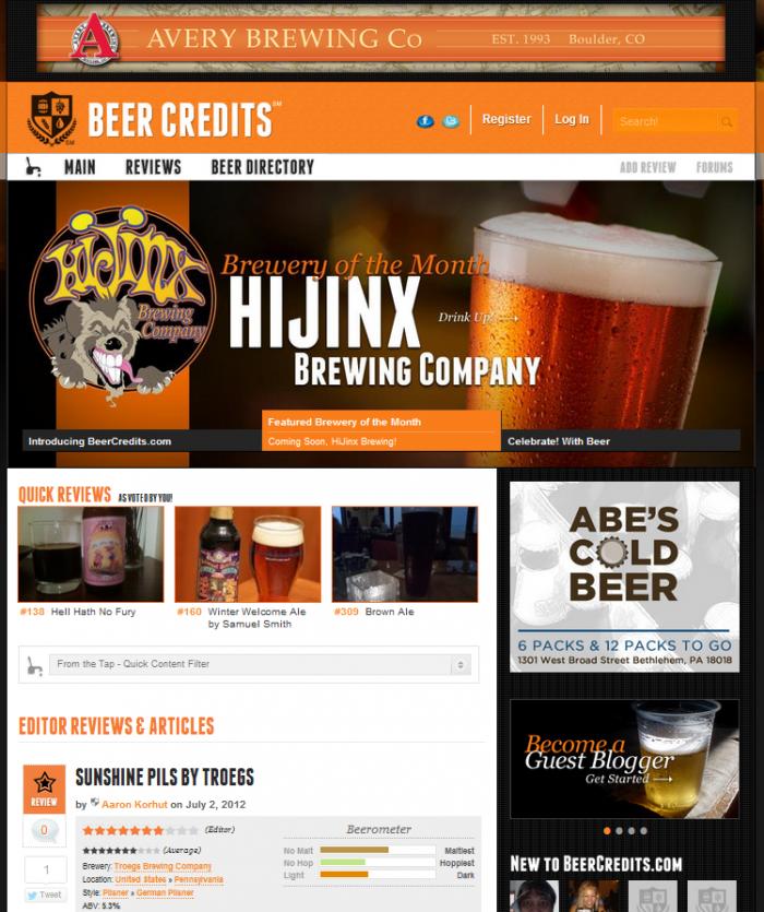 Beer Credits