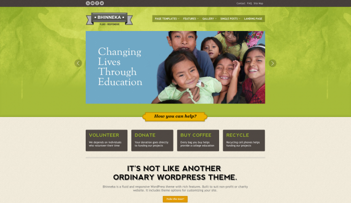 Bhinneka colorful WordPress theme