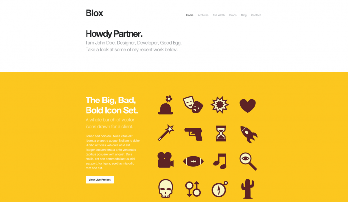 Blox colorful WordPress theme