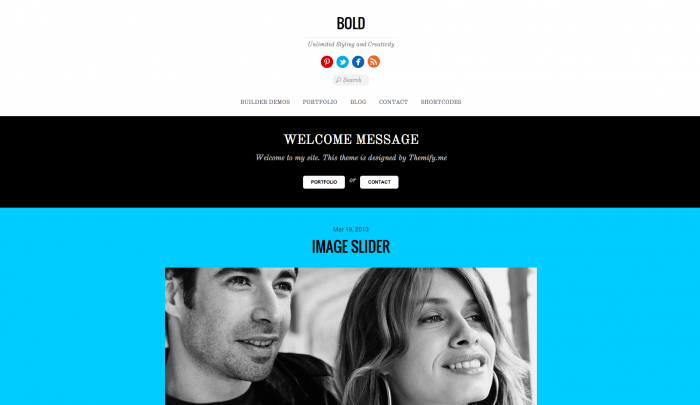 Bold colorful WordPress theme
