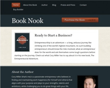 The Book Nook theme is part of the Builder Themes package.