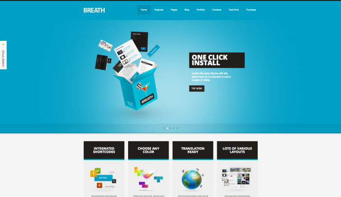 Breath colorful WordPress theme