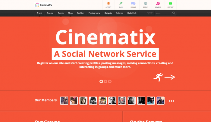 Cinematix colorful WordPress theme