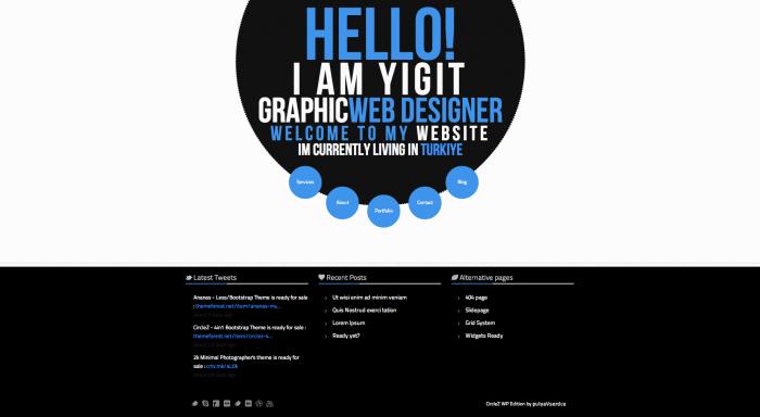 CircleZ colorful WordPress theme
