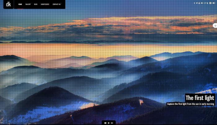 DK colorful WordPress theme