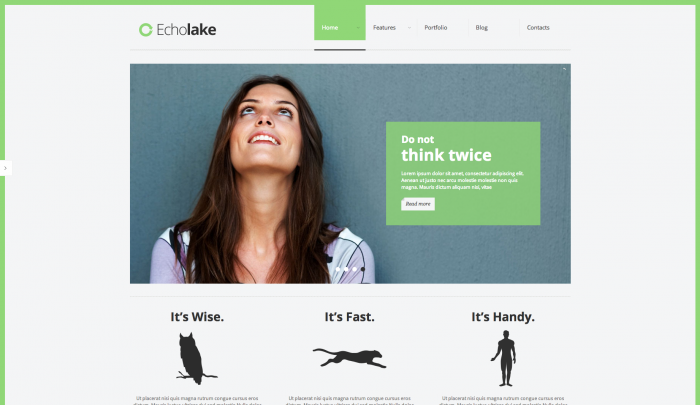 Echolake colorful WordPress theme