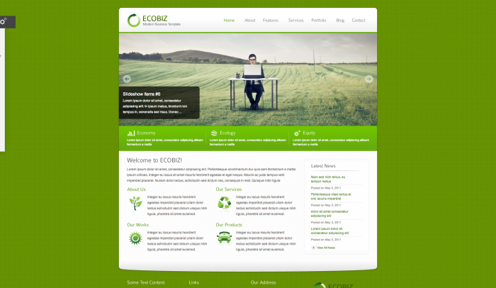 ECOBIZ colorful WordPress theme