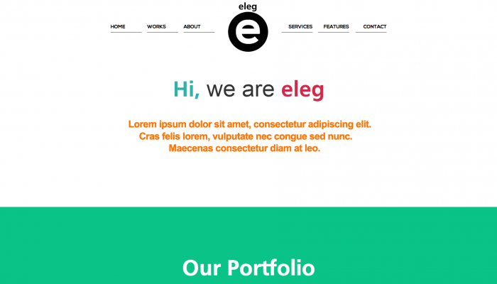 Eleg colorful WordPress theme