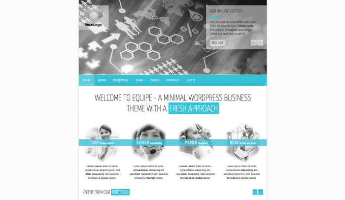 Equipe colorful WordPress theme