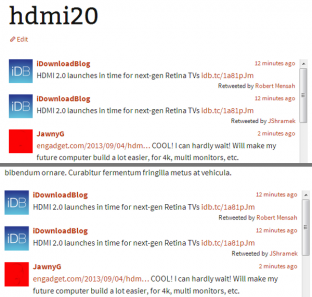 A comparison of a dedicated Fetch Tweets page with an embedded Twitter timeline.
