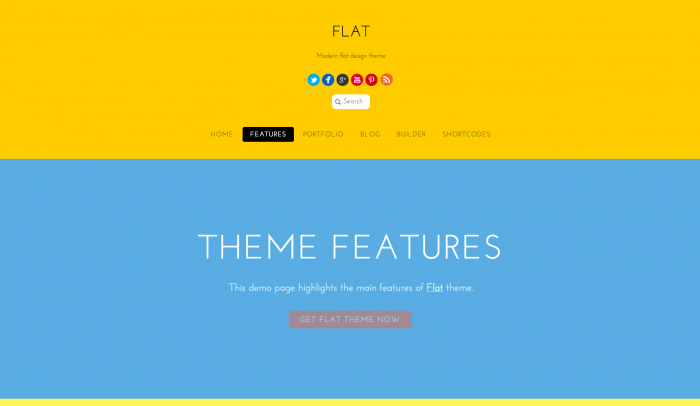 Flat colorful WordPress theme