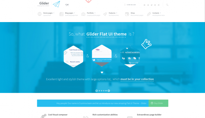 Glider colorful WordPress theme