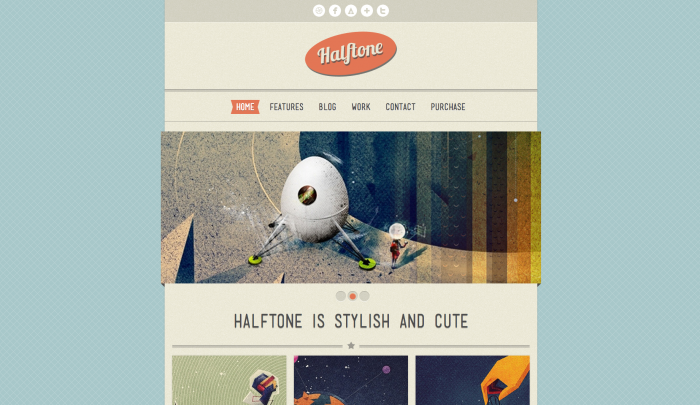 Halftone colorful WordPress themes