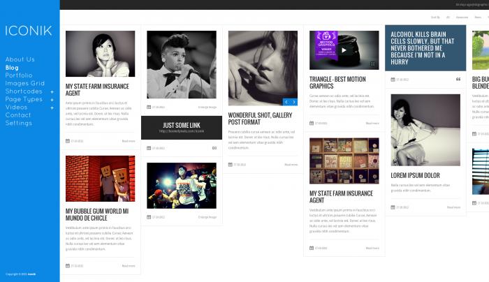 Iconik colorful WordPress theme