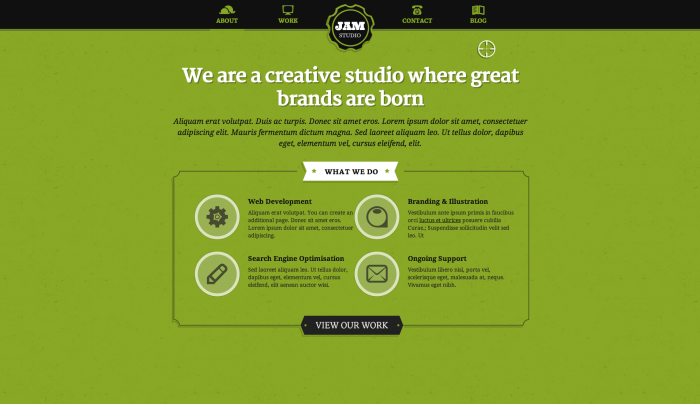 Jam Studio colorful WordPress theme