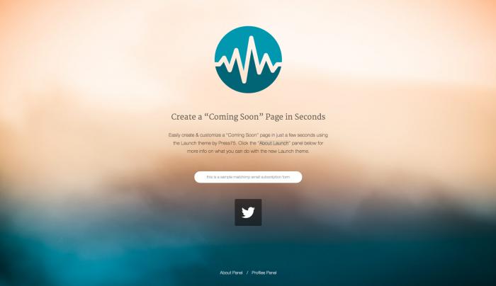 Launch colorful WordPress theme