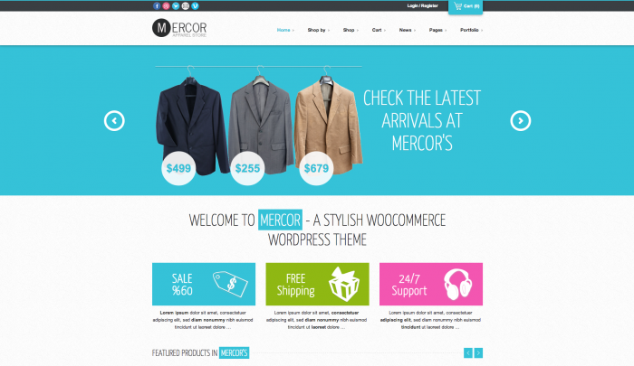 Mercor colorful WordPress theme