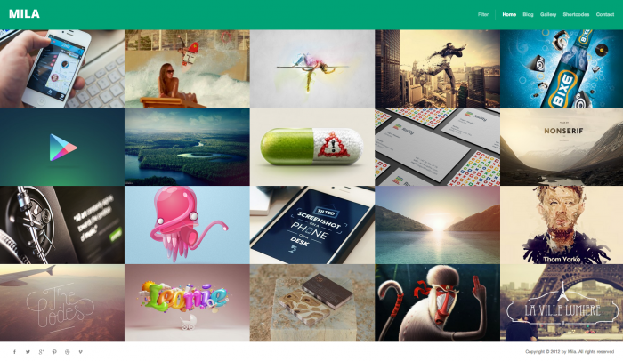 Mila colorful WordPress theme