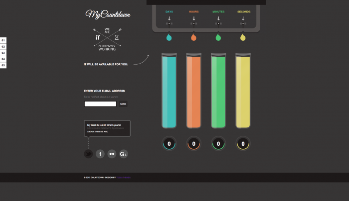 MyCountdown colorful WordPress theme