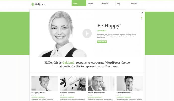 Oakland colorful WordPress themes