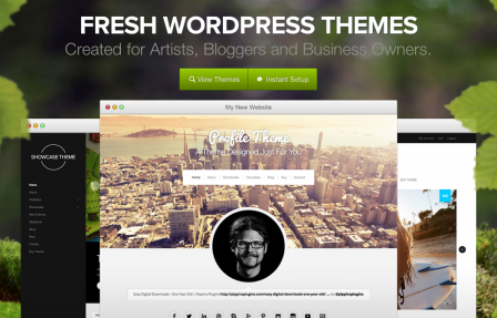 Organic Themes homepage